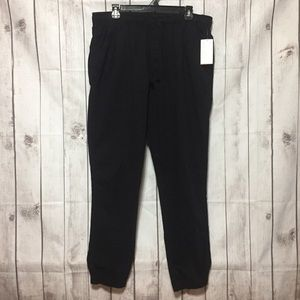 NWT Old Navy Black Pull-On Joggers Pants L Stretch